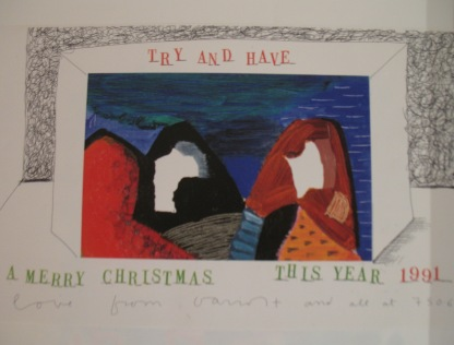 Try and have a merry christmas this year! David Hockney