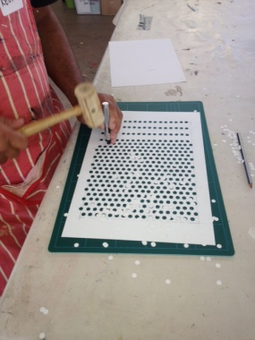 Creating a Benday dot stencil