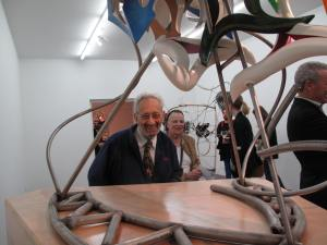 Frank Stella at the opening of his exhibition in Stockholm