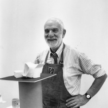 Anthony Caro at Tyler Graphics, 1987. Photograph: Marabeth Cohen-Tyler.