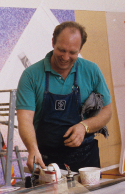 John Hutcheson at Tyler Graphics Ltd., Mount Kisco, New York, October 1991