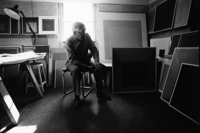 Josef Albers in his studio, Connecticut, 1969. Photographer: Malcolm Lubliner.
