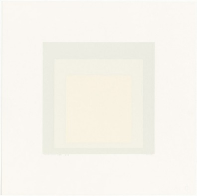 Josef Albers, 'Gray instrumentation II h' 1975, three colour screenprint. National Gallery of Australia, Canberra. Purchased 1975. http://cs.nga.gov.au/Detail.cfm?IRN=37686