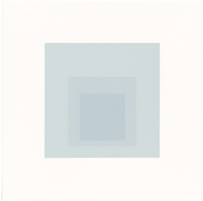 Josef Albers, 'Gray instrumentation II i' 1975, three colour screenprint. National Gallery of Australia, Canberra. Purchased 1975. http://cs.nga.gov.au/Detail.cfm?IRN=37705