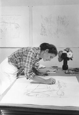 Nancy Graves drawing on 'Ngetal' proof