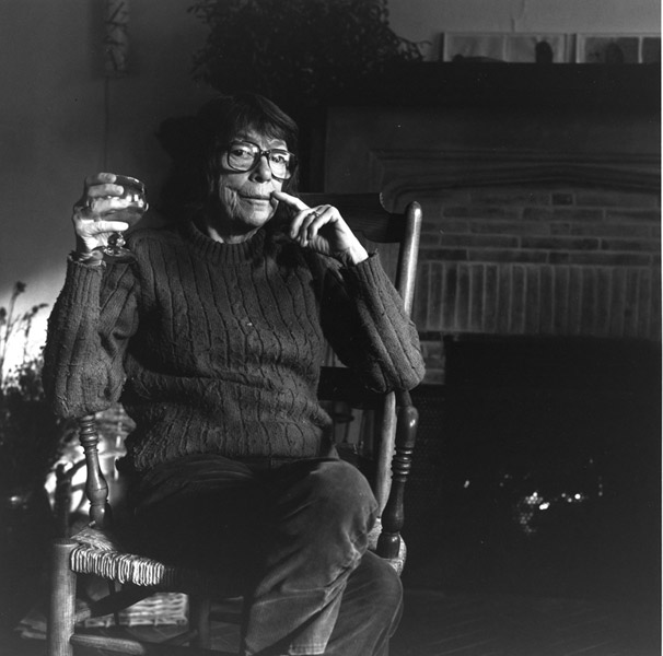 Portrait of Joan Mitchell at her home in Vétheuil, France, 1991