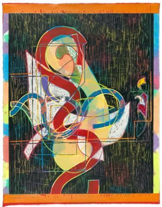 Frank Stella 'Pergusa three' 1982 from the 'Circuits' series 1982-84