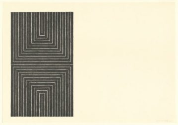 Frank Stella 'Arundel Castle' 1967 from the 'Black series I'