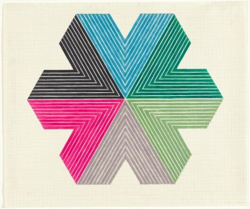 Frank Stella 'Star of Persia II' from the 'Star of Persia' series 1967