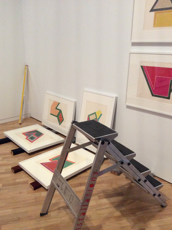 Midway through installing the Eccentric polygons series