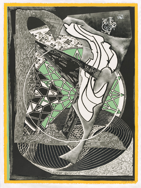 Frank Stella, 'Jonah historically regarded' from the 'Moby Dick engravings' series 1991