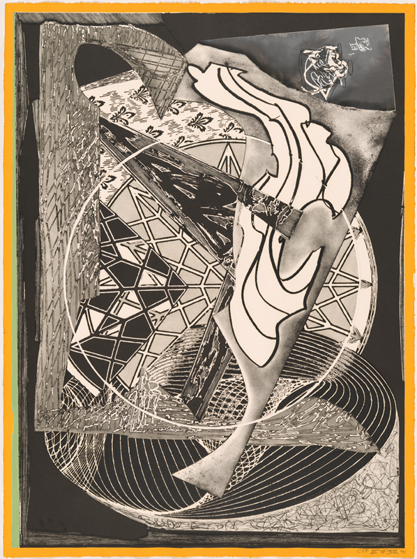 Frank Stella, 'Jonah historically regarded' from the 'Moby Dick engravings' series 1991, colour trial proof III/IV