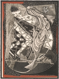 Frank Stella, 'Jonah historically regarded, state I' from the 'Moby Dick engravings' series 1991, colour trial proof I/III, colour etching, aquatint, relief, screenprint, drypoint, carborundum, engraving on handmade paper. National Gallery of Australia, Gift of Kenneth Tyler 2002.