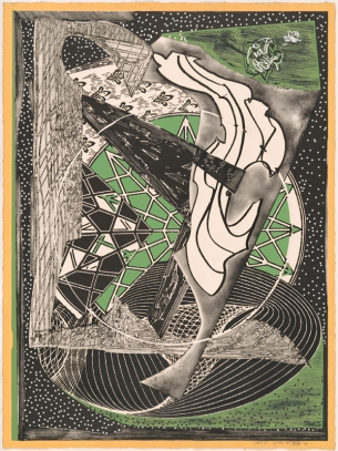Frank Stella, 'Jonah historically regarded, state I' from the 'Moby Dick engravings' series 1991, colour trial proof II/III