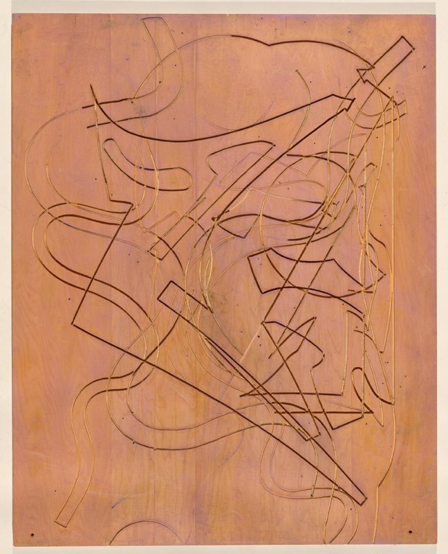 Frank Stella, 'Block I' 1981, matrix for the 'Circuits' series, laser cut plywood. National Gallery of Australia, Canberra