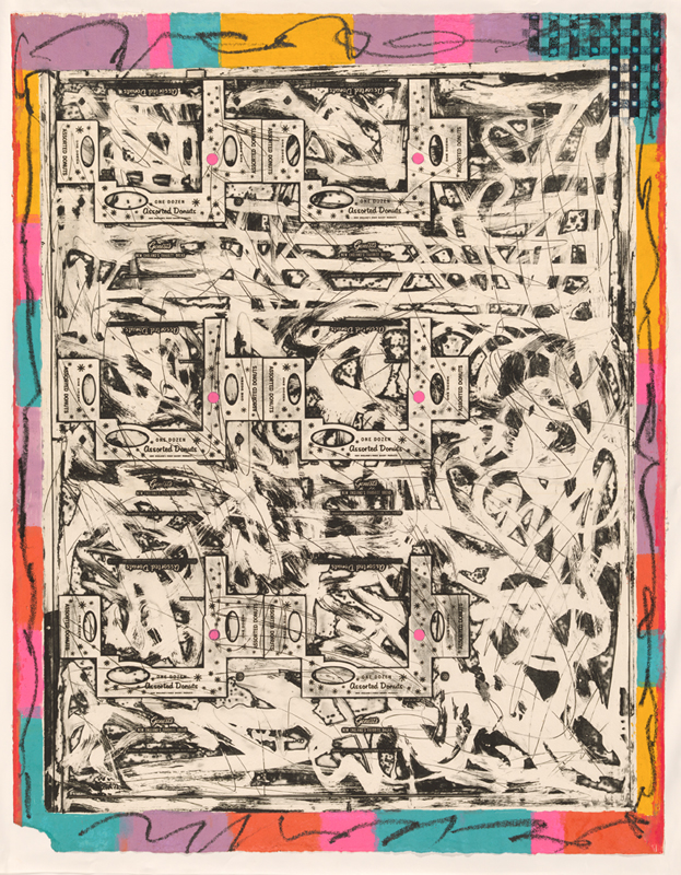 Frank Stella, experimental proof for the 'Circuits' series 1982-84, colour etching, screenprint with oil stick additions by the artist. National Gallery of Australia