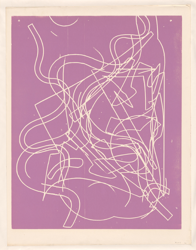 Frank Stella, 'Block I' 1981, proof for the 'Circuits' series 1982-84, colour woodcut. National Gallery of Australia, Canberra