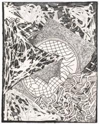 Frank Stella, 'Swan engraving II', 1982