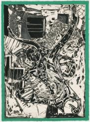 Frank Stella, 'Swan engraving framed II', trial proof 3, 1984