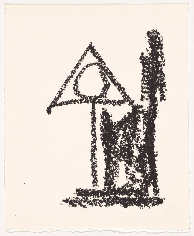 'Abandoned book study', 1981, by Robert Motherwell. Lithograph printed from one aluminium plate
